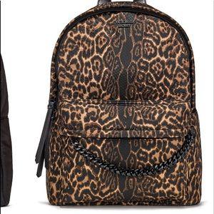cheetah VS Pink backpack